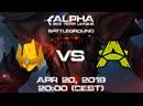 Alpha sc2 Team League. Battleground: Advent Inspired Academy vs Canenbert.