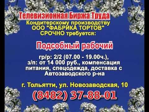 23 мая _07.20_12.50_Работа в Тольятти_Телевизионная Биржа Труда