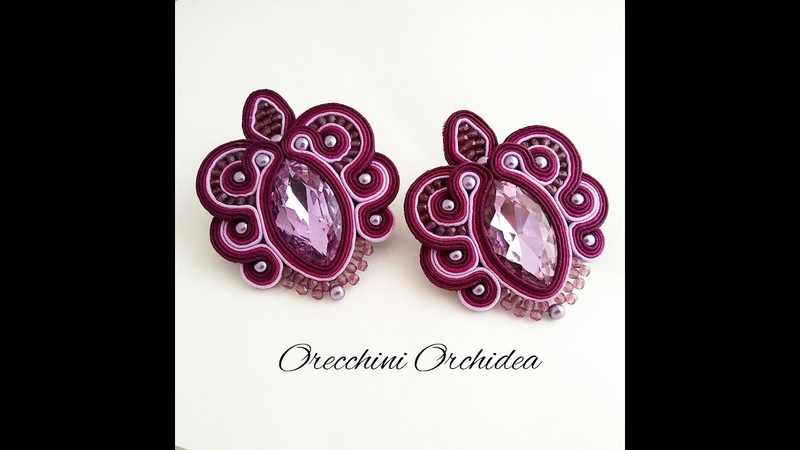 TUTORIAL SOUTACHE ORECCHINI ORCHIDEA collab. PerlineBijoux
