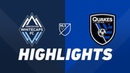 Vancouver Whitecaps FC vs San Jose Earthquakes HIGHLIGHTS July 20 2019