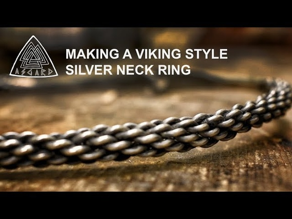 Hand Crafting Viking Jewellery The Twisted Silver Neck Ring