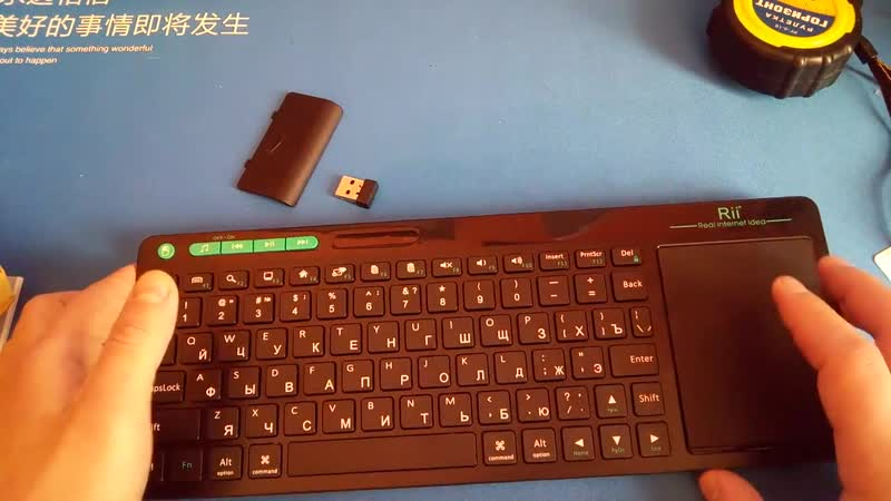 Беспроводная клавиатура Rii K18 2 4 ГГц с тачпадом