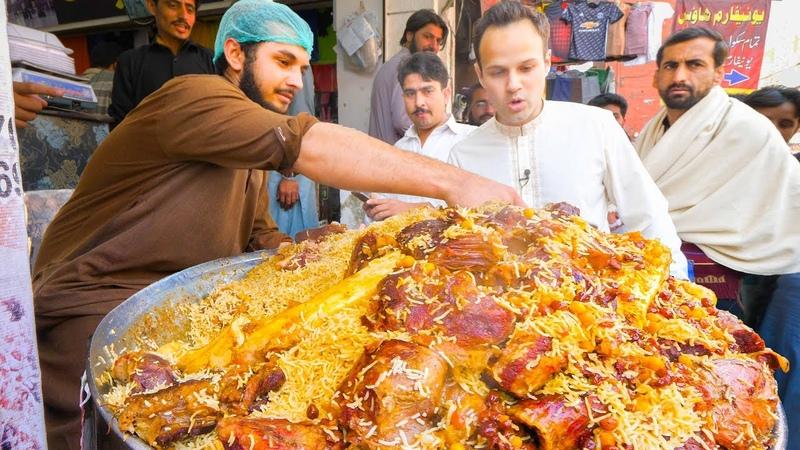 Street Food in Peshawar - GOLDEN PULAO Mountain Charsi Tikka Kabab Pakistani Street Food Tour!
