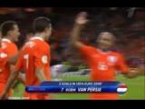 Робин ван Перси - мяч в ворота Румынии (Евро-2008)