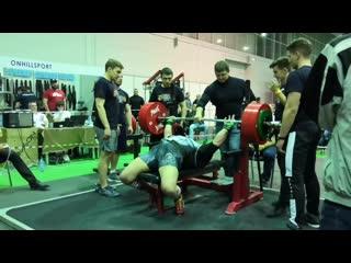 Виктор Мистратов. Жим 350 кг.