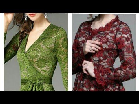 MODEL DAN PADUAN WARNA LONG DRESS BROKAT dengan WARNA PURING YANG CANTIK ELEGANT