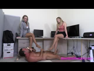 The american mean girls office footboy punishment (1080p) goddess platinum americanmeangirls femdom mistress amber