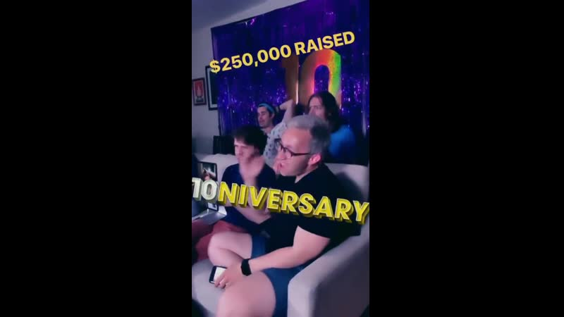 Celebrating 250K on the AVPM Turns 10 Livestream via Robert Manions IG Story SK10