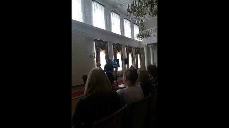 Год театра во дворце книги Встреча с Кустарниковым.