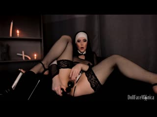 Sinful nun dares to beg for priest cum