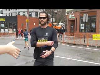 Джаред во время Бостонского марафона 2019
