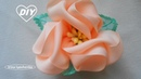 Цветок канзаши на резинку МК/DIY Ribbon Flower /РАР Flor de la cinta220