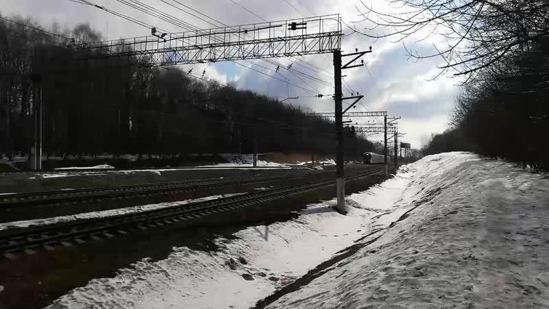 ЭШ2-023 Булатниково - Бирюлёво-Пассажирская 23 марта 2019 г.