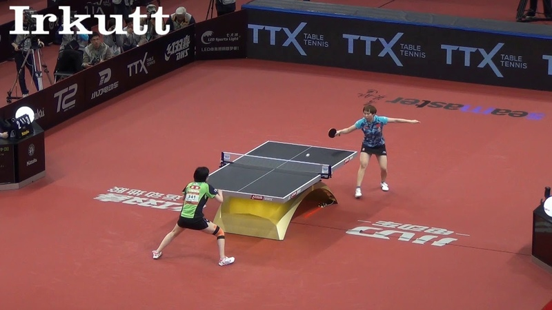 Zhu Yuling (CHN) - Hina Hayata (JPN). Asian Table Tennis Championships