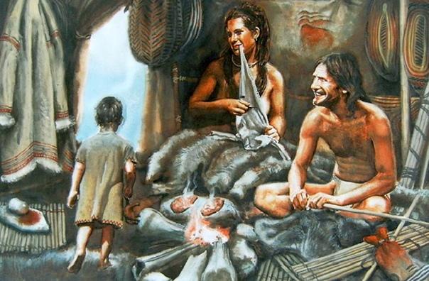ОДИН ДЕНЬ ИЗ ЖИЗНИ ДРЕВНИХ ЛЮДЕЙ Дом из костей мамонта, родственник-неандерталец и тайны мироздания. Как жили наши прапрапредки. Не надо думать, что древние «троглодиты» были лишены милосердия и