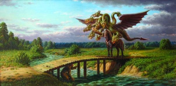Калинов мост через реку Смородину в славянской мифологии