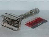 1961 Gillette Fat Boy Refurbished Re Plated Nickel Razor G11C