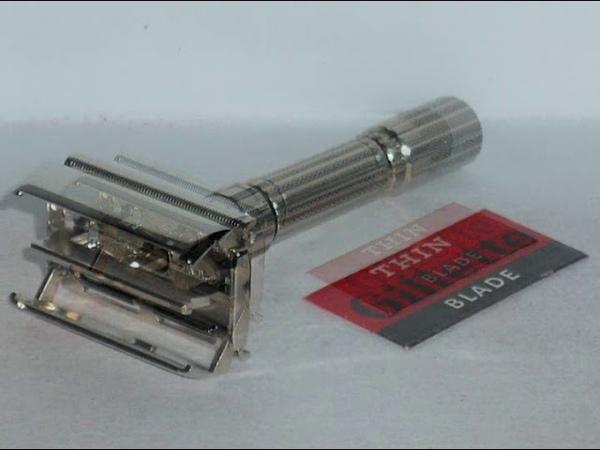 1961 Gillette Fat Boy Refurbished Re Plated Nickel Razor G1–1C