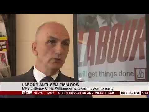 Labour anti-Semitism row: Chris Williamson allowed back into party