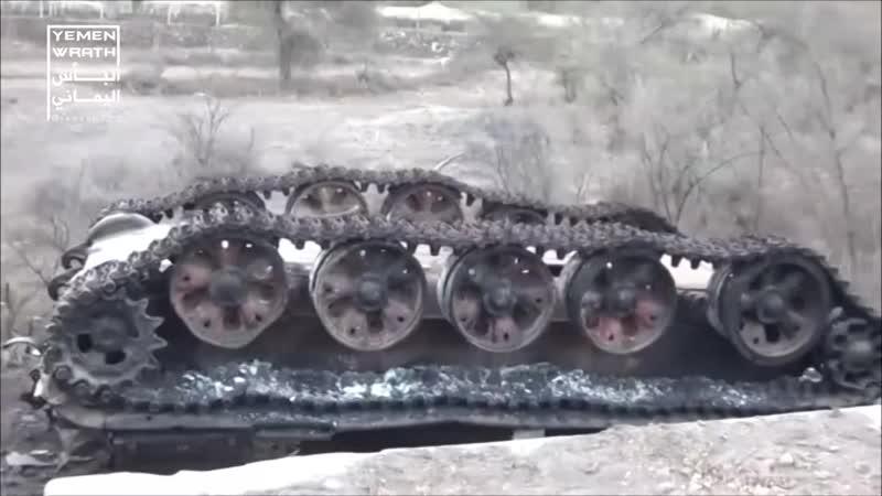 Подбитый в Йемене Т-55АМ2