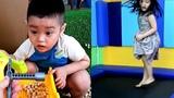 Em Cò chơi đồ chơi cát Gia Linh chơi nhà bóng sân nhún khu vui chơi giải trí trẻ em