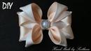 Бантик из атласной ленты Канзаши для начинающих Мастер-класс Satin ribbon bow Laco de fita