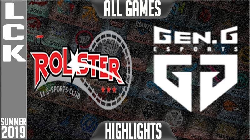 KT vs GEN Highlights ALL GAMES | LCK Summer 2019 Week 2 Day 5 | KT Rolster vs Gen.G