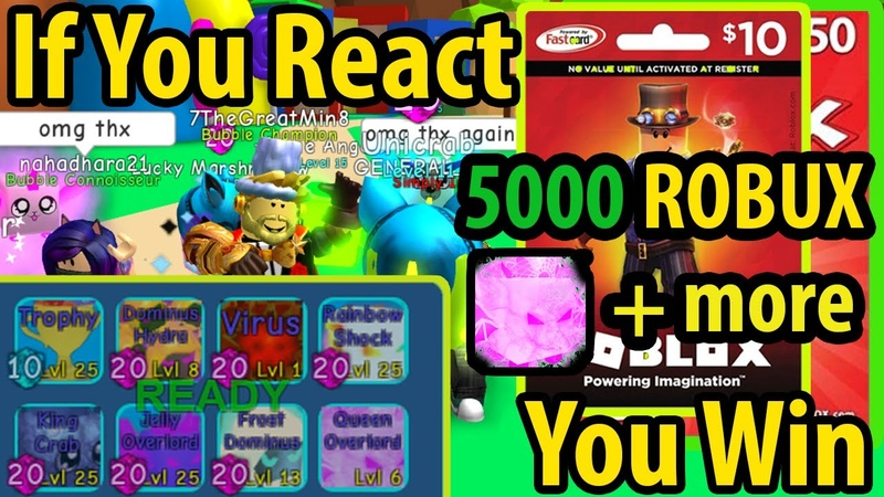 Wow If You React, You Win Roblox Gift Card And Queen Overlord and More - Check Information Part 2