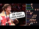 Dendi does CHAT REQUEST — picks PUDGE on stream