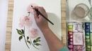 Peony Bouquet Watercolor Process Video