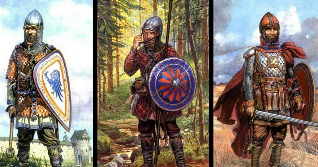 Бойцы новгородского ополчения