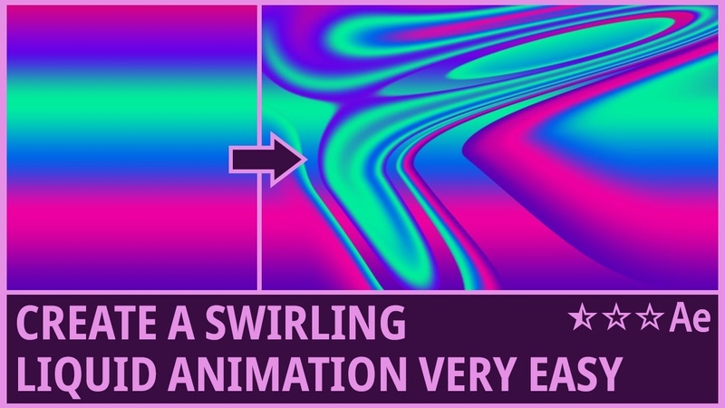 Create a Swirling Liquid Animation in After Effects (CC Smear) - Tutorial