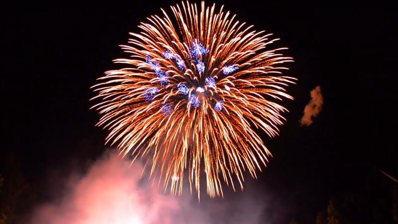 屶打谷ナイアガラ 正二尺玉 同時打揚 8/14/2019 Large Shell 24 Inch Fireworks.