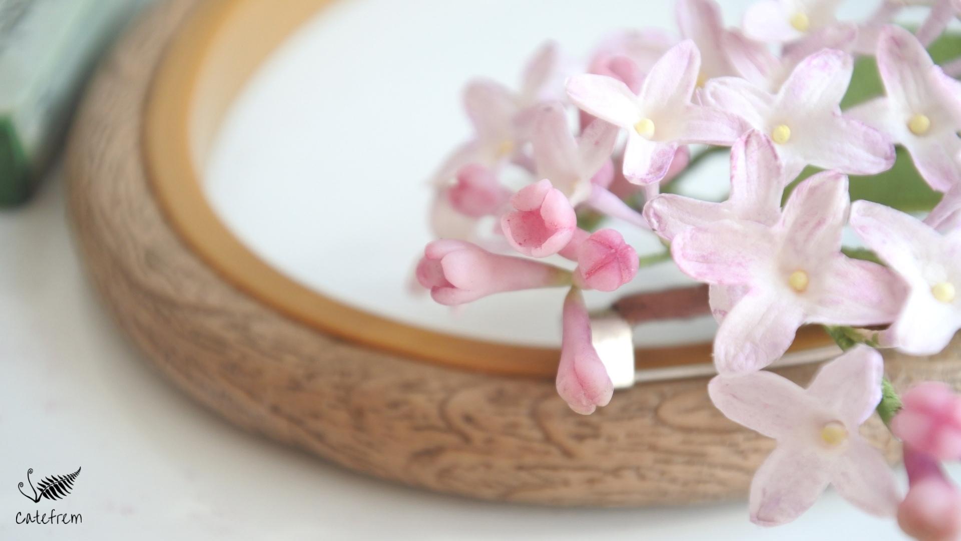 Цветы сирени из зефирно-шёлкового фоамирана
