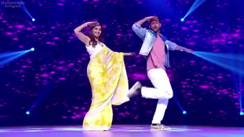 Мадхури Дикшит и Ритик Рошан, на шоу Dance Deewane 2. 01.07.19 г.