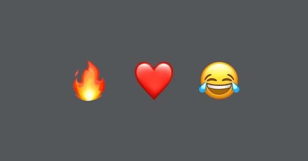 Огонь, сердце и плачущее от смеха лицо — самые популярные эмодзи в России.