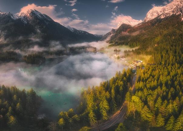 Озеро Хинтерзее, Бавария, Германия