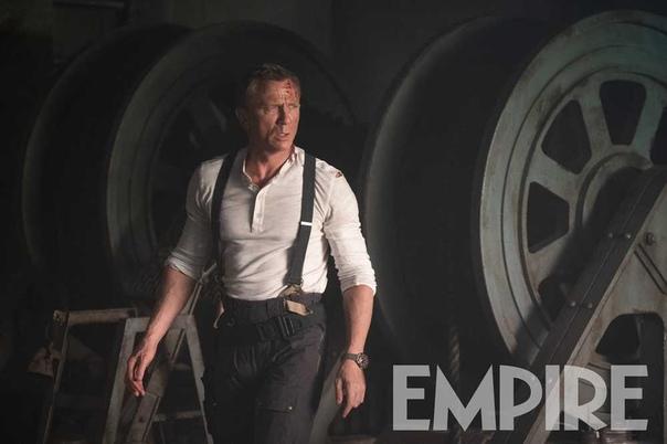 Дэниэл Крэйг на новом кадре шпионского боевика «007: Не время умирать».