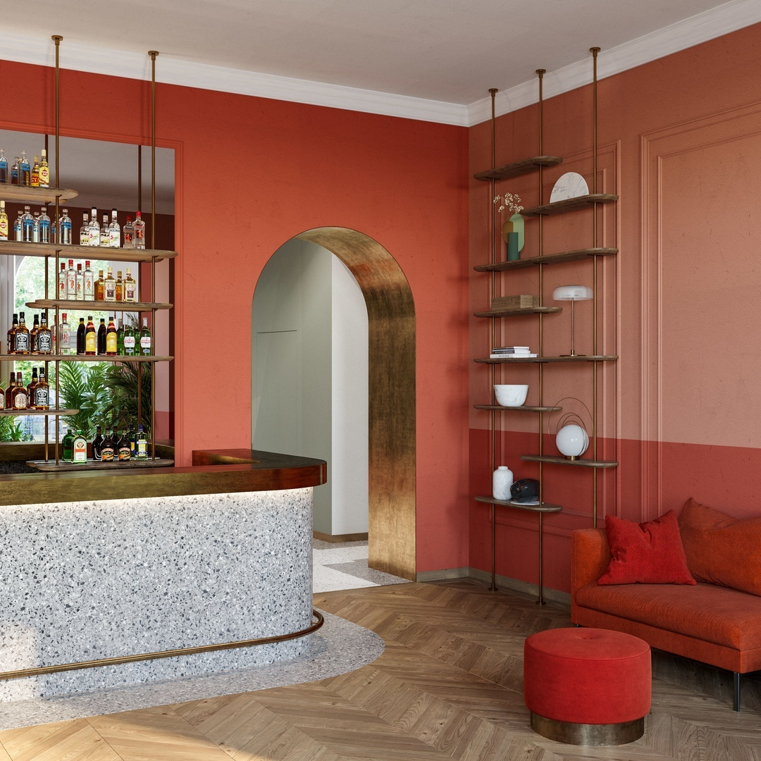 Hotel in Budapest by Roomba Home Design