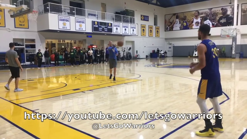 Steph Curry buries 93 out of 100 three pointers after Warriors practice, day before LA Clippers