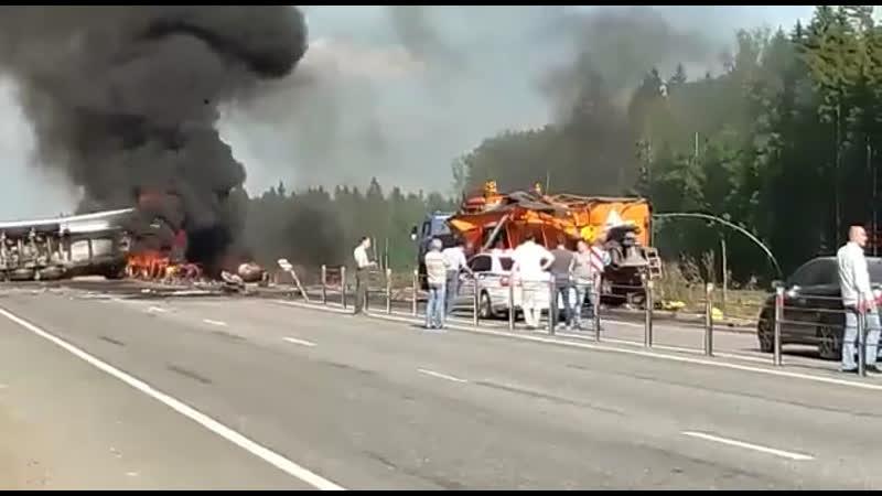 В Подмосковье перекрыли Минское шоссе.