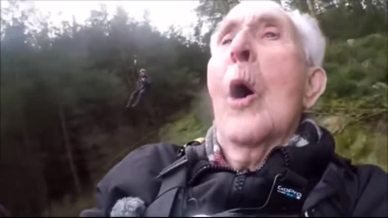 This gentleman going ziplining for the first time....aged 106 years young!!