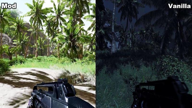 Crysis Vanilla Vs Blackfire's Ultra Graphics Mod PC 4K