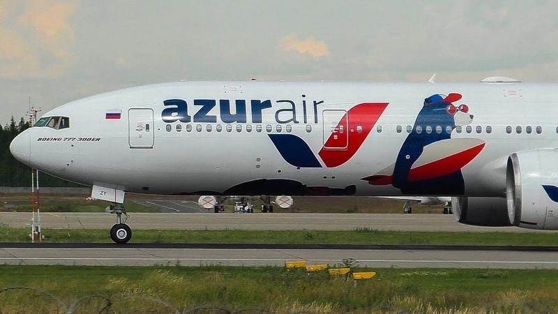 ATC ▶ Azur Air Boeing 777 31HER VQ BZY Согласование выхода правым разворотом 2018