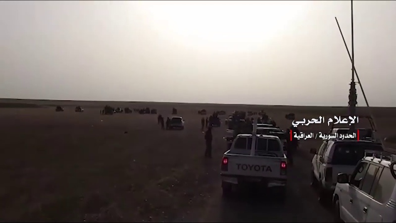 SYRIAN ARMY IRAQI PMU JOINT COMBING OPERATION ON THE SYRIAN IRAQI BORDER TO CLEAR FROM ISIS🇸🇾✌️