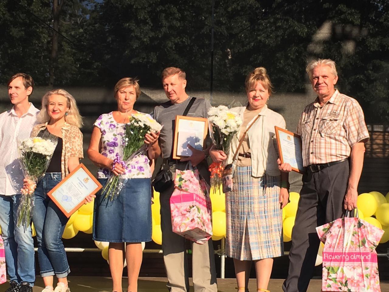 Юбиляров супружеской жизни наградили в парке Кузьминки