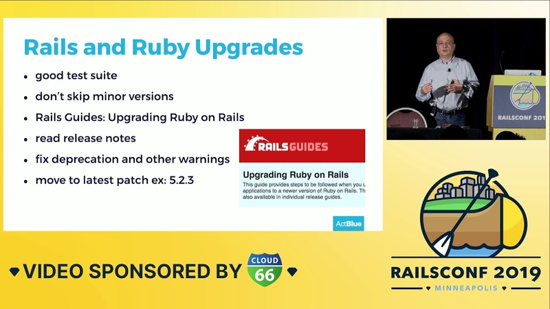 RailsConf 2019 - From 0.10 to 5.2. The story of a 13 year old Rails app by Braulio Carreno