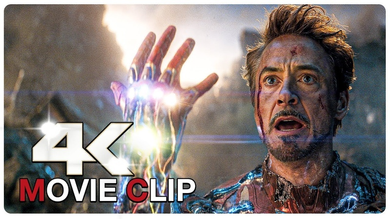 I Am Iron Man Snap Scene Iron Man vs Thanos AVENGERS 4 ENDGAME 2019 Movie CLIP 4K