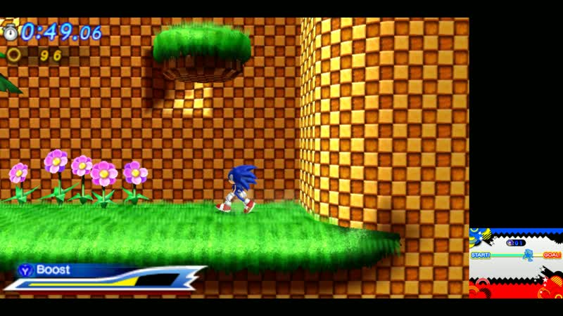 Sonic Generations (3DS) - Green Hill(Sonic The Hedgehog)