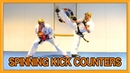 Taekwondo Spinning Kick Counters How to Defend and Counter Spin Kicks Van Roon Tutorial